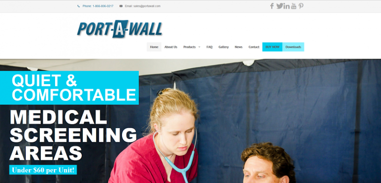 PortaWall eCommerce Website