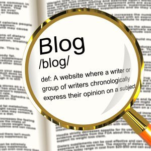 Blog Definition Magnifier Shows Website Blogging Or Blogger