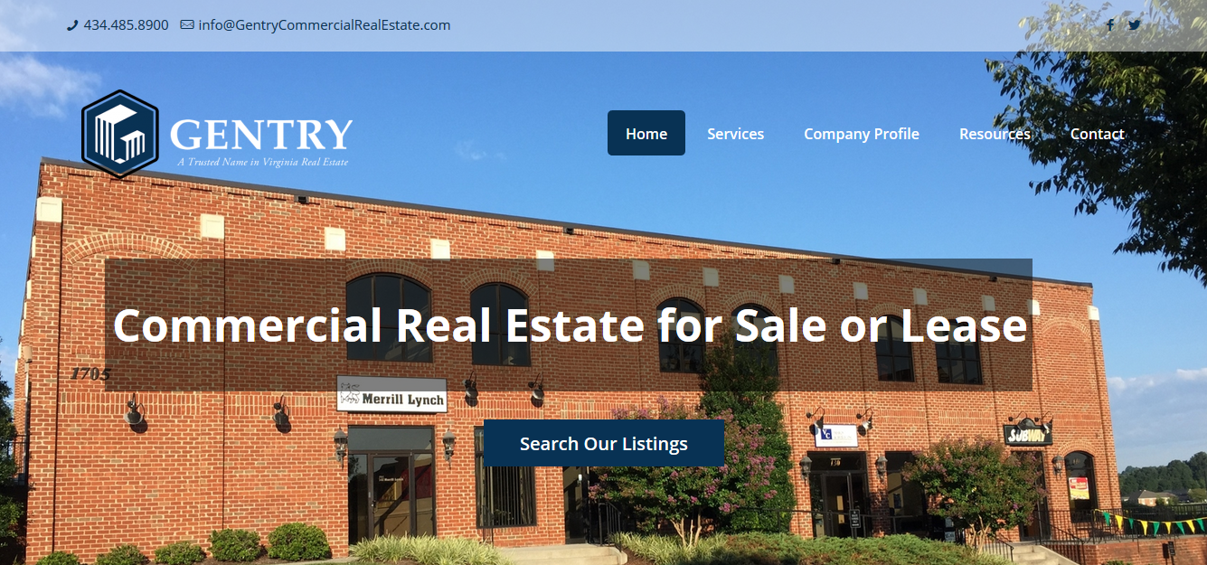 Gentry Commercial Real Estate Home