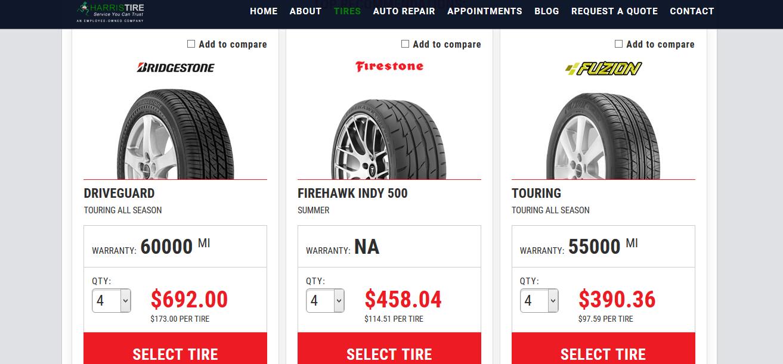 Harris Tire Storefront