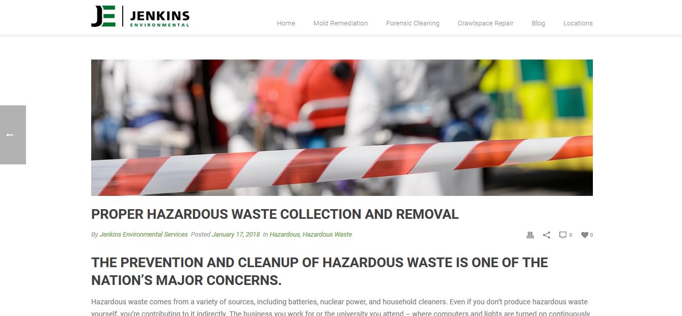 Jenkins Environmental Services BLOG